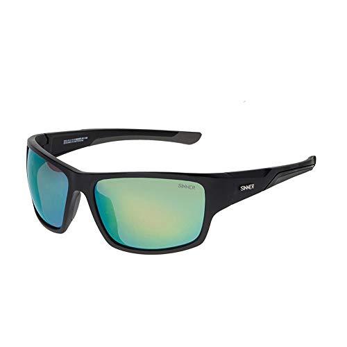 SINNER sportzonnebril voor dames en heren, meerdere kleuren, spiegelend met 100% UV400-bescherming, gepolariseerd, niet gepolariseerd, fietsbril, fietsbril en sportbril voor outdoor