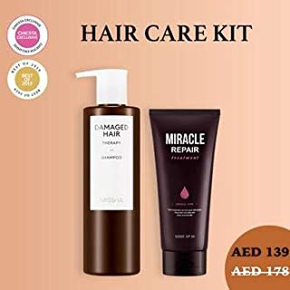 DAMAGED HAIR REPAIR KIT-Some By Mi Miracle Repair Hair Treatment,Missha Damaged Hair Therapy Essence