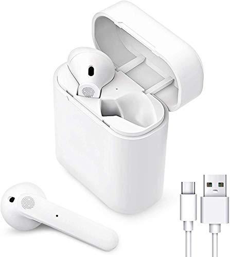Auriculares Inalámbricos Bluetooth 5.0, Auriculares Bluetooth Deportivos IPX5 Impermeable, In-Ear Cascos Bluetooth Inalámbricos con Microfono Dual y Caja de Carga para Android/Samsung/Huawei/Xiaomi