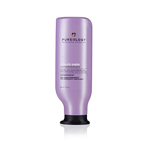 Pureology Hydrate Sheer Conditioner   For Fine, Dry, Color-Treated Hair   Lightweight Hydrating Conditioner   Silicone-Free   Vegan   Updated Packaging   9 Fl. Oz