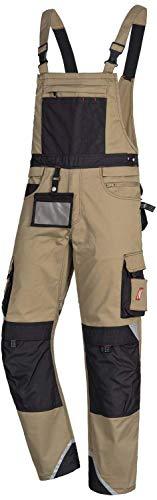 Nitras Motion Tex Pro FX Pantalón con Peto - Pantalones de Trabajo para Hombre/Mujer
