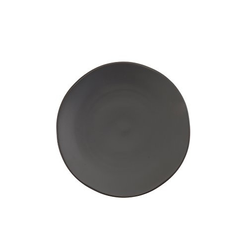 Fortessa Vitraluxe Dinnerware Heirloom Matte Finish Salad Plate 8-Inch, Charcoal, Set of 4 - STN.8000.6.02