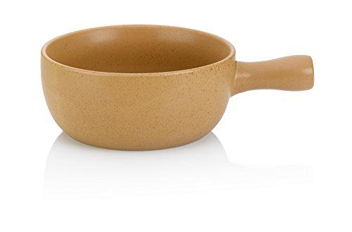 Kela 366573 Käsefondue-Pfanne, Feuerfeste Keramik, 22 cm Durchmesser, 2 L, Davos, Beige