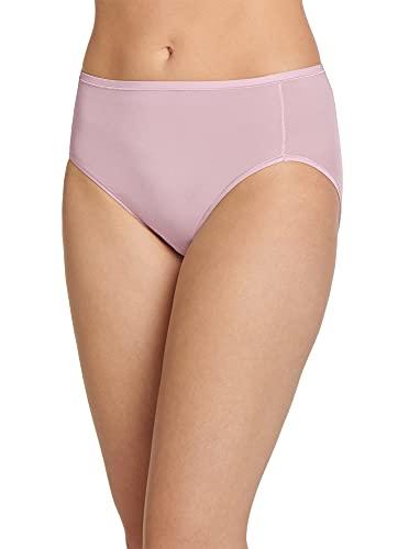 Jockey Women's Underwear Smooth & Radiant Hi Cut, Faded Mauve, 8