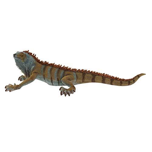 Grote Iguana-figuur van kunsthars, voor tuindecoratie. Dierdesign, realistische stijl – thuis en meer.