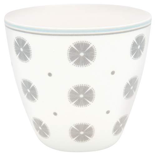 GreenGate - Kaffeetasse, Kaffeebecher, Latte Cup - SAGA - Porzellan - weiß - 300 ml