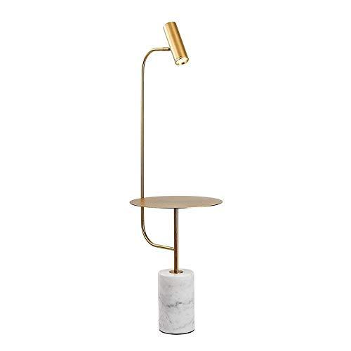 Maoser staande lamp met marmeren lamp, postmoderne minimalistische staande lamp slaapkamer met tafel zwart goud vloerlamp