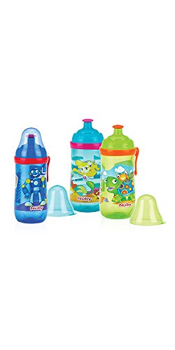 Nûby Trinkflasche bedruckt aus Polypropylen, 360ml