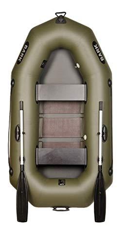 BARK B-230C B-230CN 2,3 m 230 cm Barca a Remi per 2 Persone Gommone Canotto da Pesca Barca Gonfiabile con Pannello Posteriore per Motore Elettrico Versione Professionale (B-230C Pavimento a doghe)