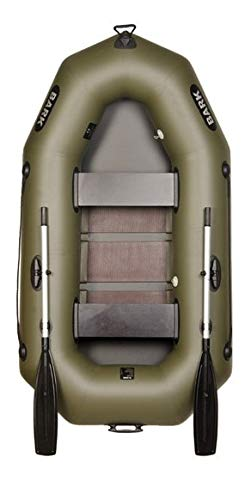BARK Schlauchboot B-230C für 2 Personen 2.3 m 230 cm Paddelboot Ruderboot Motorboot Angelboot Profi (B-230C Lattenboden)