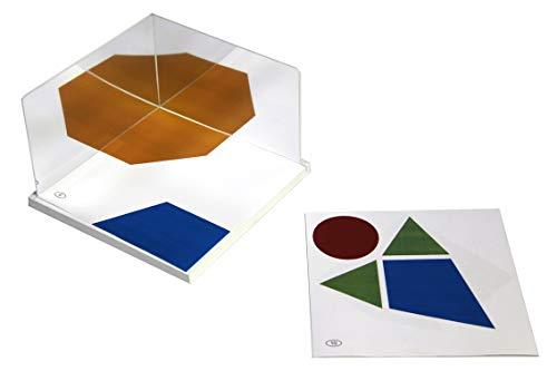 WISSNER aktiv lernen - 2 Kunststoff Spiegeln 150 x 100 x 1.5 mm mit Standplatte