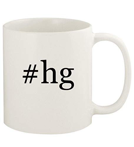 #hg - 11oz Hashtag Ceramic White Coffee Mug Cup, White