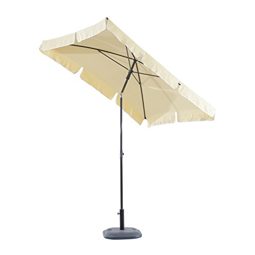 Outsunny Parasol rectangulaire inclinable alu Acier Polyester Haute...