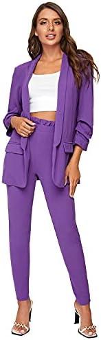 Purple suit woman