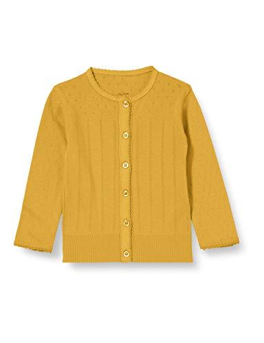 Noa Noa Miniature Baby Basic Doria, Cardigan,Long Sleeve Chaqueta de Punto, Ochre Yellow, 0M para Bebés