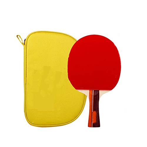 KPOON Pádel de Mesa Tabla Raqueta de Tenis Dos Estrellas Principiante Mango Largo Horizontal manija Shot Straight Shot Paleta de Ping Pong dúplex (Color : Multi-Colored, Size : 15x25.3cm)