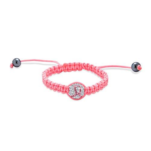 Bling Jewelry Pink Lazo Sobreviviente del Cáncer Pave Cristal Ball Shamballa Inspirado...