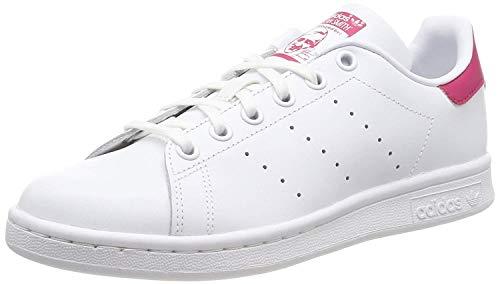 adidas Stan Smith J B32703, Scarpe da Ginnastica Basse Unisex-Bambini, Bianco (White, 36 2/3 EU