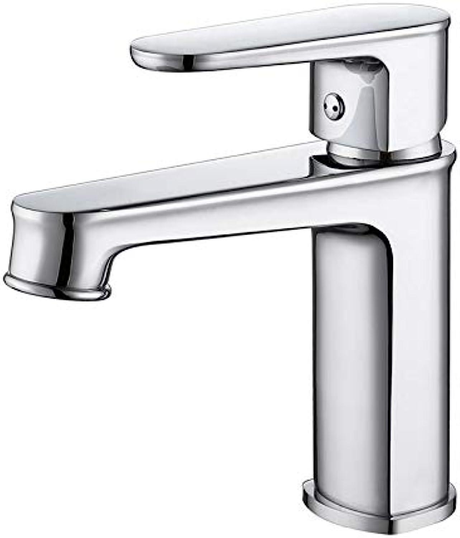Kupfer bleifreies Becken warmes und kaltes Mischventil Wasserhahn Badezimmer Badezimmer Waschbecken, Chrom