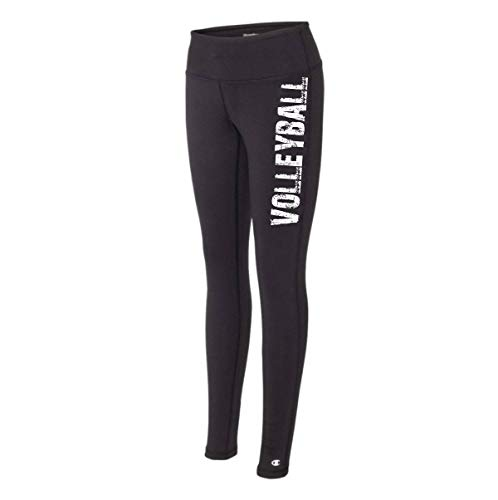 Volleyball Black Legging - The Perfect Everyday Classic Tights for Athletic Girls and Women