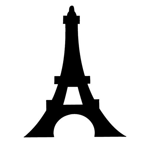 SUIFENG Car Stickers 10.5x13CM Eiffel Tower Romantic Paris France Graphic Car Sticker Decals Motorcycle Decorative Car Styling Black/Silver