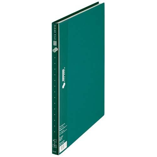 プラス クリアーファイル スーパーエコノミー 横入れ A4縦 20枚 グリーン FC-124SI 【まとめ買い5冊セット】