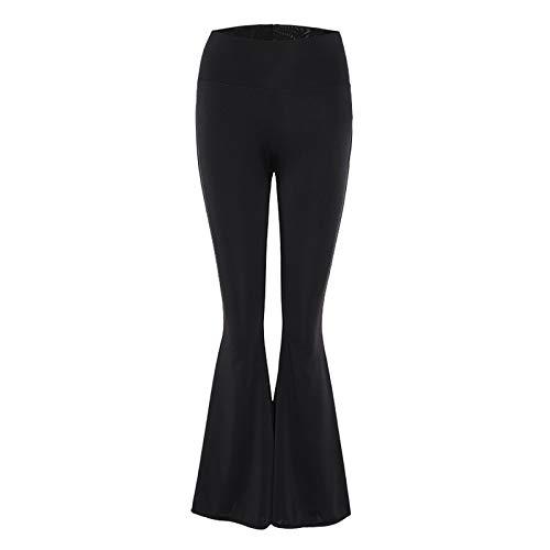ZODOF Pantalones de Yoga Mujer Modal Pantalones Deportivos Alta Cintura Elásticos Leggins,Alta Cintura Elásticos pantalón de Campana,para Pilates Jogger Fitness
