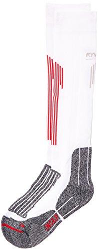RYWAN Comprim 'Run & Trail Sport Socken weiß/grau, Unisex, Comprim'run & Trail, Blanco - Blanc Gris