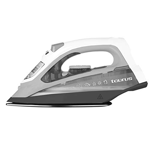 Taurus Ideal Collection PTSIF801 - Plancha de vapor, 2200 W, Golpe vapor 80g/min, Sistema Antical, Auto limpieza, Suela cerámica, Planchado vertical