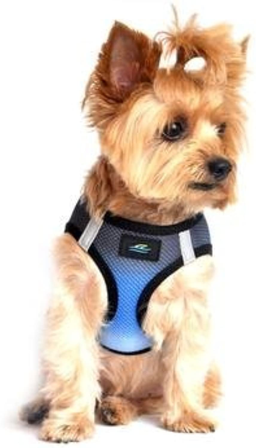 American River Dog Harness Ombre Collection  Midnight Sky XXL by Doggie Design