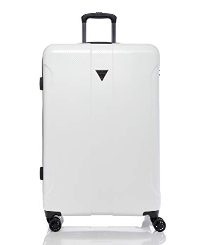"""Guess Lustre 2 Collection 28"""" 8-Wheeled Spinner, White, One Size"""
