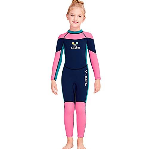 Zeraty Traje de baño térmico de neopreno para niños, de manga larga, traje de natación de manga larga para niños y niñas, traje de buceo de 2,5 mm para buceo, natación