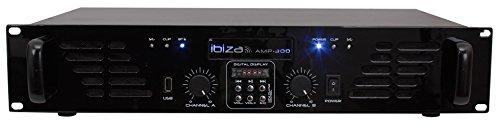 Ibiza AMP300USB-BT - Amplificador de sonorización (con entradas de...