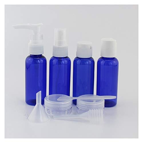 Cosméticos vacíos 7 unid/Set 10pc / Set Portable Travel Cosmetic Bottle Kit de la Botella de cuidados personales Botellas de contenedores de Pliegues por avión Película de Crema de loción Prueba de