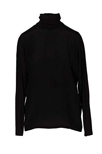 Woolrich Lupetti Asymetrische Unterseite aus Jersey-Seide mit Taschen, Schwarz M