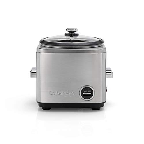 Cuisinart Reiskocher mit Aufsatz zum Dampfgaren für 12 Portionen, 1L Fassungsvermögen, CRC800E, Edelstahl