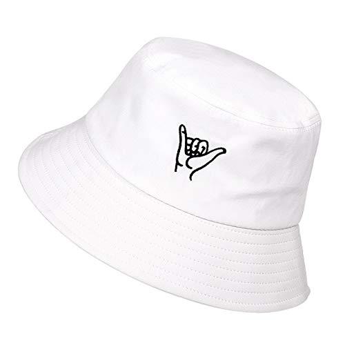 Gorra de Sombrero de Cubo de Color sólido para Mujeres Unisex Hombres Gorras de Pescadores de algodón-8