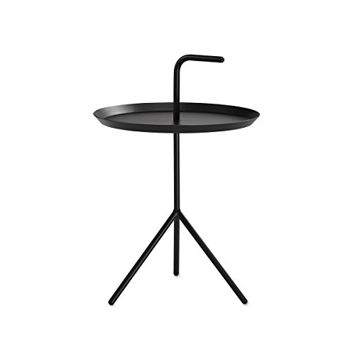 DLM bijzettafel, zwart Ø 38 cm hoogte plank: 44 cm