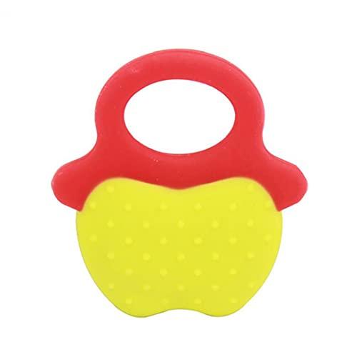 Liadance Baby Teether Forma Forma de Frutas Silicona Seguridad de la dentición Chew Juguetes de los Juguetes de los bebés Regalos del Chupete (Forma de Apple)