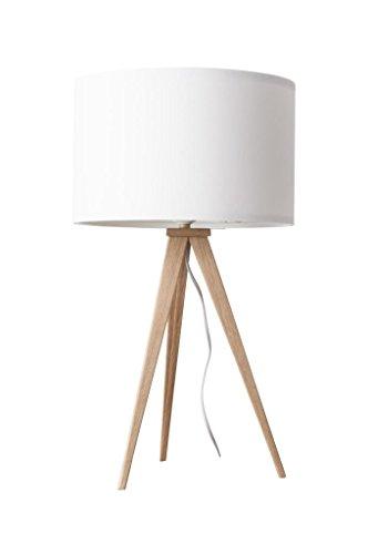 Lampe à poser Tripod Wood Mini Couleur Blanc