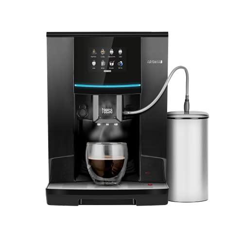 Automatyczny ekspres do kawy TEESA AROMA 800 TSA4008 z młynkiem i spieniaczem do mleka, 19 barów, czarny