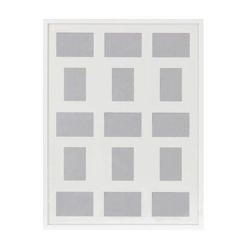IKEA RIBBA Rahmen für 15 Bilder in weiß; (60x80cm)
