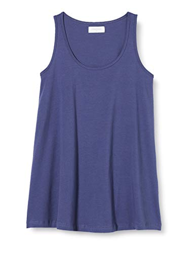 MAMALICIOUS MLEVANA S/L Jersey Tank Top 2-Pack A. Camiseta sin Mangas, Paquete: Packed W/Snow White Crown Blue, M para Mujer