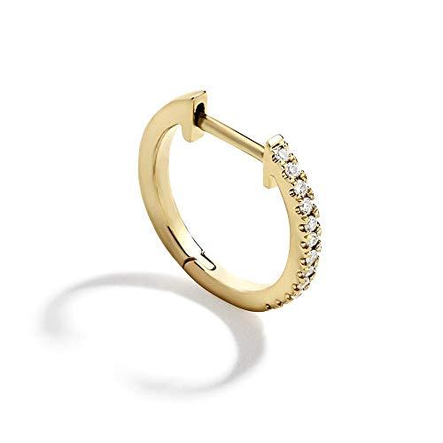 Moda de diamantes blancos de compromiso de boda de zirconia cúbica joyería regalos pendientes de enlace cadena CZ Ear Piercing redondo aro pendientes(7)