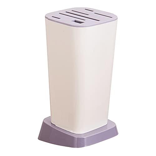 Utensilios de cocina para el hogar, estantes de cuchillos de cocina, estantes de almacenamiento de drenaje de cuchillo de plástico (gris claro)