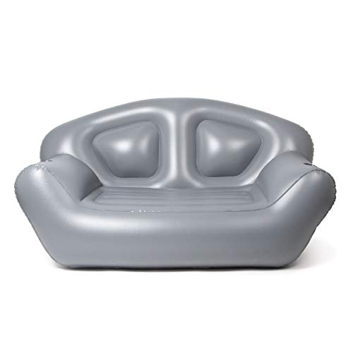 Milliard Inflatable Couch/Air Sofa – Perfect Lounger for Camping, Beach and Home, Grey