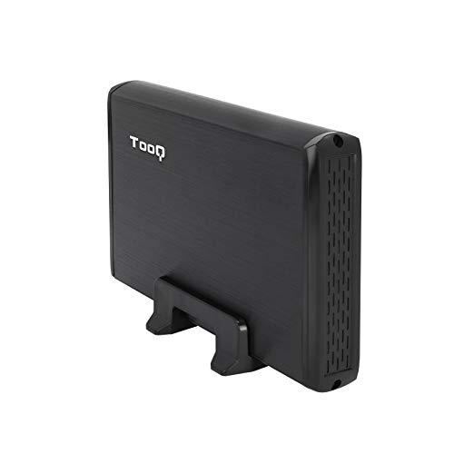 """TooQ TQE-3509B - Carcasa para Discos Duros HDD de 3.5"""", (SATA I/II/III, USB 2.0), Aluminio, indicador LED, Color Negro, 250 grs."""
