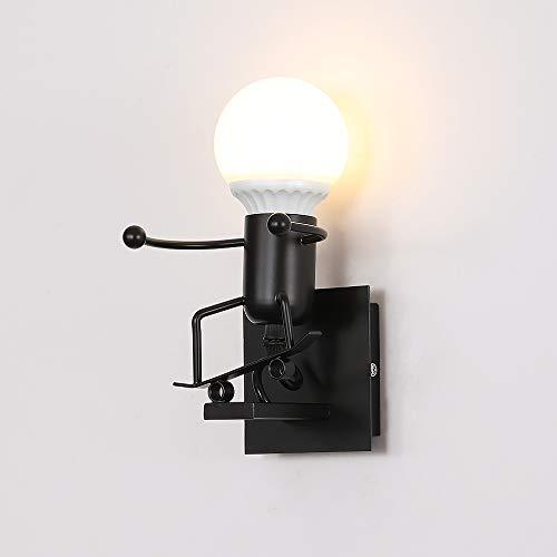 Luz de la pared,LED Lámpara de Pared,E27 Robot Luz de Pared Para Dormitorio, Restaurante, Corredor