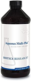 Biotics Research Aqueous Multi-Plus™ – Easy-to-Take Liquid Multi-Vitamin/Mineral, Full-Spectrum Vitamin and Mineral Formula, Great-Tasting, Kid-Friendly 16 Fl Oz
