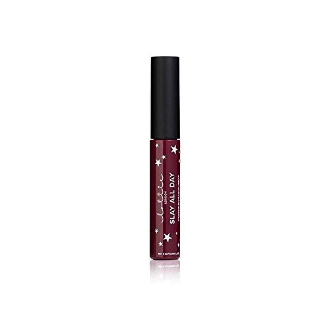 ホイストスチュワードクラフトLottie London Matte Liquid Lipstick - Vibes - ロンドンマット液状口紅を - バイブ [並行輸入品]